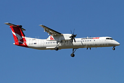 QANTAS Link-Sunstate Airlines Bombardier DHC-8-402 (Q400) VH-QOS (msn 4263) BNE (Peter Gates). Image: 905379.