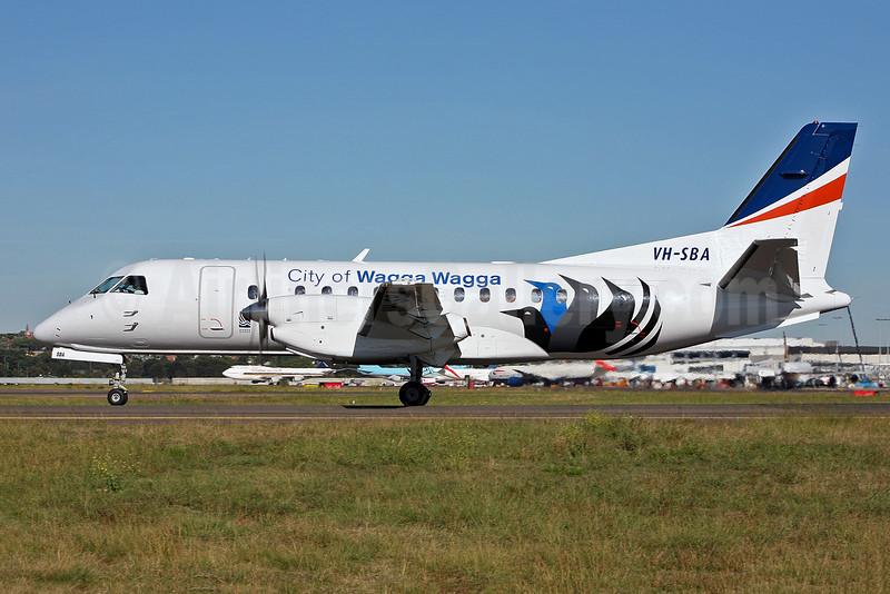 "REX (Regional Express Airlines) SAAB 340B VH-SBA (msn 311) (""City of Wagga Wagga"") SYD (John Adlard). Image: 901687."