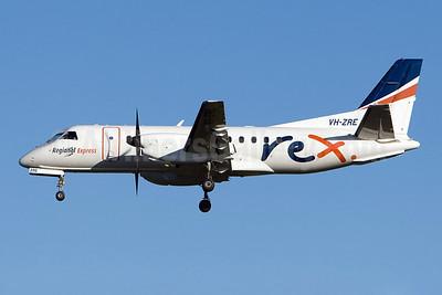 REX (Regional Express Airlines) SAAB 340B VH-ZRE (msn 391) SYD (Micheil Keegan). Image: 908308.