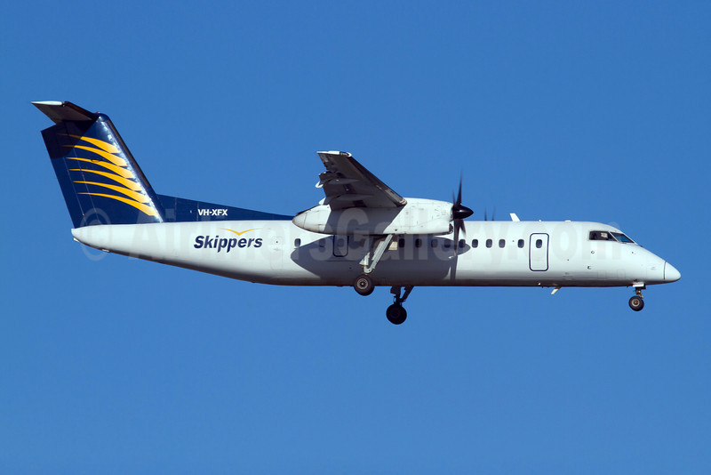 Skippers Aviation Bombardier DHC-8-314 (Q300) VH-XFX (msn 313) PER (Micheil Keegan). Image: 908544.