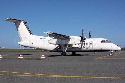 Skytran Airline Bombardier DHC-8-102 VH-QQG (msn 036) BNE (Peter Gates). Image: 920701.