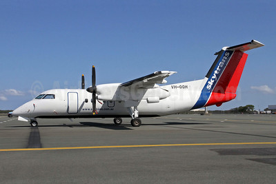 Skytran Airline Bombardier DHC-8-102 VH-QQH (msn 380) BNE (Peter Gates). Image: 904331.