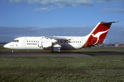 Southern Australia Airlines BAe 146-200 VH-YAE (msn E2107) (QANTAS colors) SYD (Christian Volpati Collection). Image: 939821.