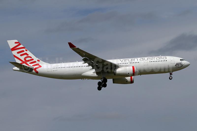 Virgin Australia Airlines Airbus A330-243 F-WWYU (VH-XFC) (msn 1293) MEL (Keith Burton). Image: 945043.