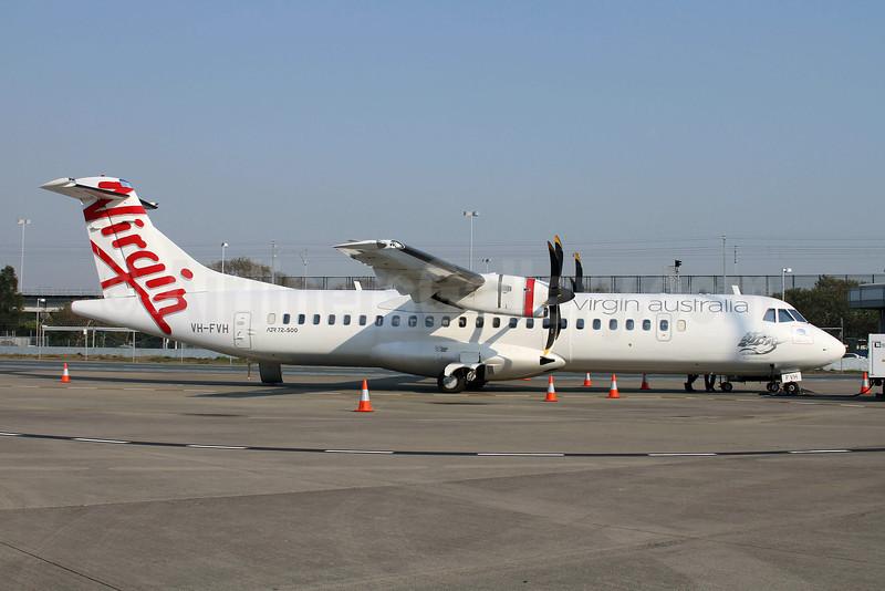 Virgin Australia Airlines (Skywest Airlines) ATR 72-212A (ATR 72-500) VH-FVH (msn 954) BNE (Peter Gates). Image: 907373.