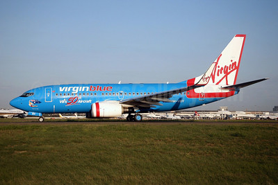 Virgin Blue's 50th Aircraft special livery