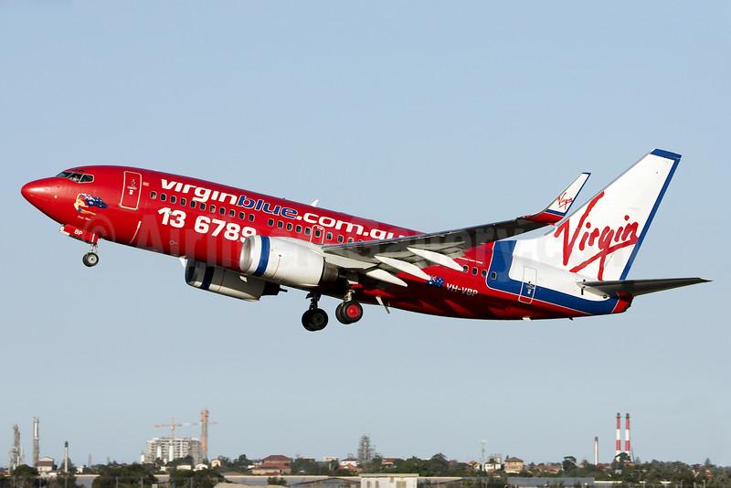 Virgin Blue Airlines (virginblue.com.au) Boeing 737-7BX WL VH-VBP (msn 30743) SYD (Bailey). Image: 931430.