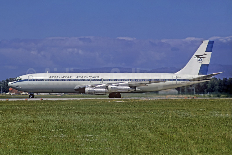 First AR Boeing 707, delivered November 23, 1966 and in service to New York JFK on December 15, 1966