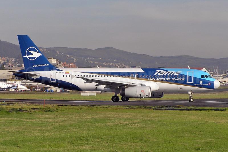 TAME Airbus A320-233 HC-CDZ (msn 2044) UIO (Stefano Rota). Image: 930075.