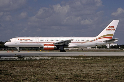 Air 2000 Airlines (Canada) Boeing 757-28A C-FOOB (msn 23822) FLL (Nigel P. Chalcraft - Bruce Drum Collection). Image: 950144.