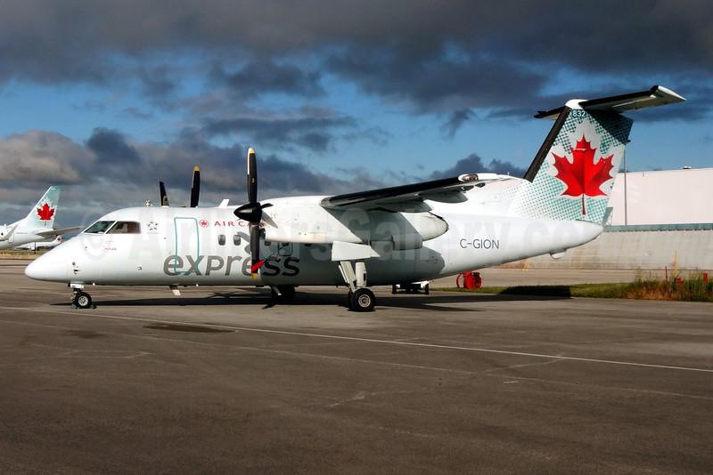 Air Canada Express-Jazz Aviation Bombardier DHC-8-102 Dash 8 C-GION (msn 127) YYZ (TMK Photography). Image: 929212.