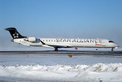 Air Canada Jazz (Jazz Air) Bombardier CRJ705 (CL-600-2D15) C-FUJZ (msn 15048) (Star Alliance) YYZ (TMK Photography). Image: 900621.