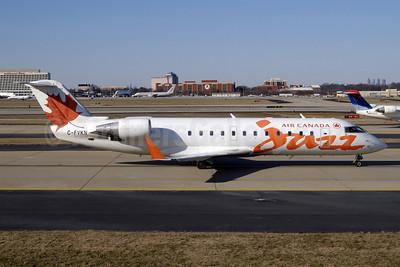 Air Canada Jazz (Jazz Air) Bombardier CRJ100 (CL-600-2B19) C-FVKN (msn 7078) ATL (Jay Selman). Image: 402059.
