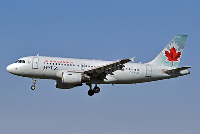 Air Canada Jetz (Air Canada) Airbus A319-112 C-GKOB (msn 1853) BWI (Tony Storck). Image: 906653.