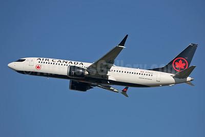 Air Canada Boeing 737-8 MAX 8 C-FSJJ (msn 61217) LHR (Keith Burton). Image: 944575.