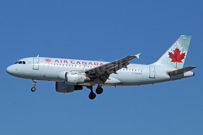 Air Canada Airbus A319-114 C-GAQX (msn 736) LAX (Michael B. Ing). Image: 921376.