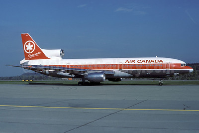 Air Canada Lockheed L-1011-385-1-15 TriStar 100 C-FTNI (msn 1058) (Singapore '85) ZRH (Rolf Wallner). Image: 912745.