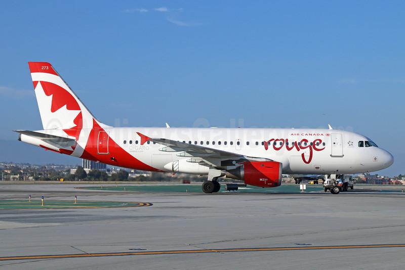 Air Canada rouge (Air Canada) Airbus A319-114 C-GARO (msn 757) LAX. Image: 923020.