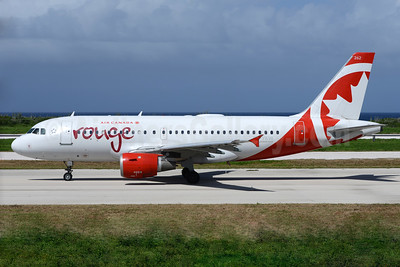 Air Canada rouge (Air Canada) Airbus A319-114 C-FYKW (msn 695) CUR (Ton Jochems). Image: 936995.