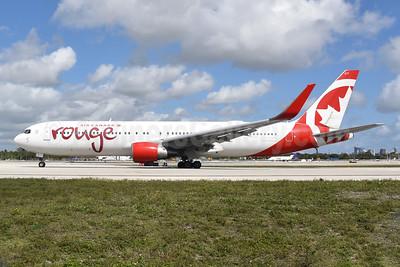 Air Canada rouge (Air Canada) Boeing 767-316 ER WL C-FMLZ (msn 27597) FLL (Bruce Drum). Image: 104924.