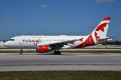 Air Canada rouge (Air Canada) Airbus A319-113 C-GBHZ (msn 813) FLL (Bruce Drum). Image: 104444.