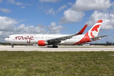 Air Canada rouge (Air Canada) Boeing 767-33A ER C-GHPE (msn 33423) FLL (Bruce Drum). Image: 104923.