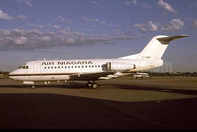 Air Niagara (Canada) Fokker F.28 Mk. 1000 C-FANA (msn 11075) (Horizon Air colors) MSP (Greg Drawbaugh). Image: 951490.