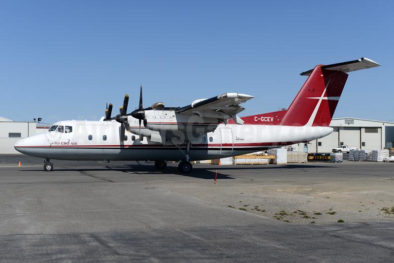 Air Tindi - Tli Cho Air de Havilland Canada DHC-7-103 Dash 7 C-GCEV (msn 83) YZF (Ton Jochems). Image: 928361.
