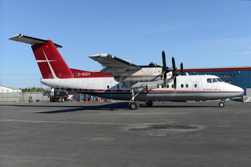 Air Tindi - Tli Cho Air de Havilland Canada DHC-7-103 Dash 7 C-GCEV (msn 83) YZF (Ton Jochems). Image: 928362.