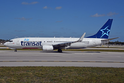 Air Transat (Transavia France) Boeing 737-8K2 WL F-GZHE (msn 29678) (Transavia colors under) FLL (Bruce Drum). Image: 104571.