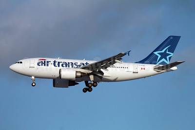 Air Transat Airbus A310-304 C-GTSK (msn 541) (Santa Hat) YYZ (TMK Photography). Image: 901312.