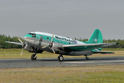 Buffalo Airways (Canada) Curtiss C-46D-10-CU Commando C-FAVO (msn 33242) YZF (Tony Storck). Image: 923890.