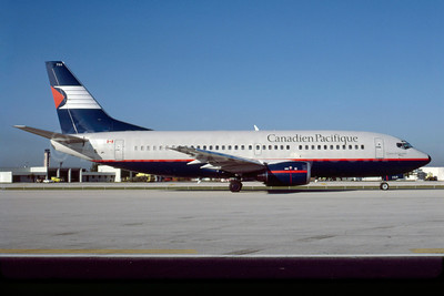 Canadien Pacifique (Canadian Pacific Air Lines) Boeing 737-317 C-FCPK (msn 23176) MIA (Bruce Drum). Image: 103156.