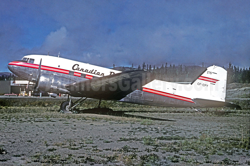 Canadian Pacific Air Lines Douglas C-47-DL (DC-3) CF-CPY (msn 4666) YXY (Gary Vincent - Christian Volpati Collection). Image: 937550.