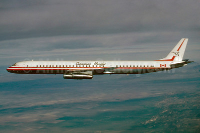 Canadian Pacific Air Lines McDonnell Douglas DC-8-63 CF-CPP (msn 45927) (Stephen Tornblom Collection). Image: 921221.
