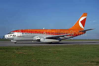 CP Air Boeing 737-217 C-GCPN (msn 21717) YVR (John Kimberley - Rob Rindt Collection). Image: 953655.