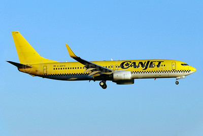 CanJet Airlines (2nd) Boeing 737-8K5 WL D-AHFO (msn 27987) (HLX.com colors) YUL (Gilbert Hechema). Image: 904774.