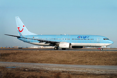 CanJet Airlines (2nd) Boeing 737-8K5 WL D-AHFP (msn 27988) (TUI colors) YYZ (TMK Photography). Image: 902471.