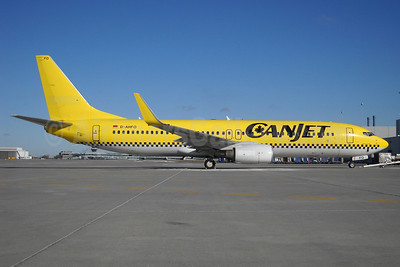 CanJet Airlines (2nd) Boeing 737-8K5 WL D-AHFO (msn 27987) (HLX.com colors) YYZ (TMK Photography). Image: 904430.