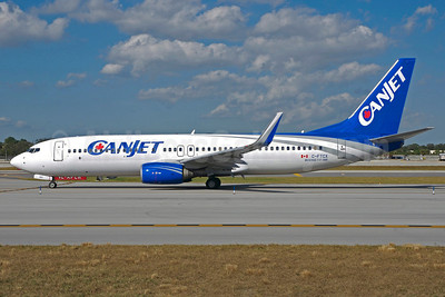 CanJet Airlines (2nd) Boeing 737-8AS WL C-FTCX (msn 29921) FLL (Bruce Drum). Image: 101312.