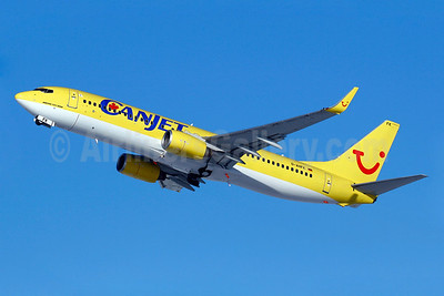 CanJet Airlines (2nd) Boeing 737-8K5 WL D-AHFK (msn 27991) (TUIfly colors) YUL (Gilbert Hechema). Image: 904349.