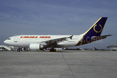 Canada 3000 Airlines Airbus A310-304 C-GRYD (msn 435) (Royal Airlines colors) CDG (Christian Volpati). Image: 949277.
