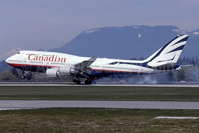 Canadian Airlines International Boeing 747-475 C-FCRA (msn 24895) YVR (Rob Rindt Collection). Image: 936100.