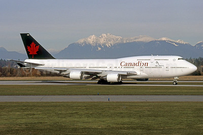 Canadian Airlines International Boeing 747-475 C-FCRA (msn 24895) (Air Canada colors) YVR (Rob Rindt). Image: 925508.