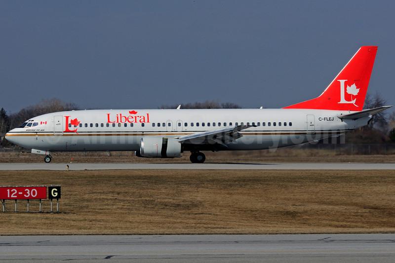 Liberal Party (Flair Air) Boeing 737-4B3 C-FLEJ (msn 24751) YHM (Reinhard Zinabold). Image: 906860.