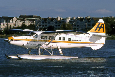 Harbour Air de Havilland Canada DHC-3 Turbo Otter C-GHAZ (msn 19) YVR (Robbie Shaw). Image: 901522.