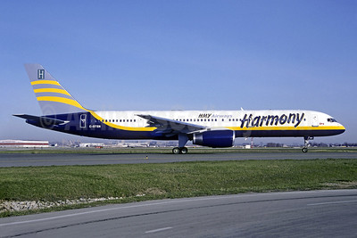 Harmony Airways - HMY Airways Boeing 757-28A C-GTSN (msn 24543) YYZ (TMK Photography). Image: 994003.