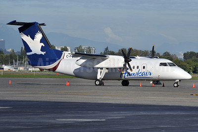 Hawkair Aviation Services Bombardier DHC-8-102 C-FCJE (msn 165) YVR (Tony Storck). Image: 905596.