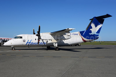Hawkair Aviation Services Bombardier DHC-8-102 C-FDNG (msn 166) YVR (Ton Jochems). Image: 912168.