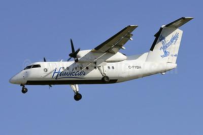 Hawkair Aviation Services Bombardier DHC-8-102 C-FYDH (msn 83) YVR (Steve Bailey). Image: 922760.